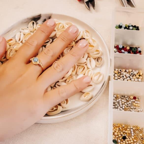 טבעת שהכנתי בסדנת תכשיטים